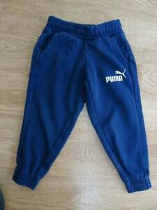 PUMA boys navy tracksuit trousers joggers AGE 3 - 4 YEARS EXCELLENT