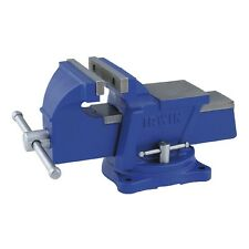 Blue 4-in Light-Duty Mechanics Bench Vise with Replaceable Hardened Steel Jaws