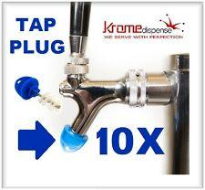 BEER FAUCET BRUSH PLUG 10X BLUE HYGIENE TAP CAP TO KEEP YOUR TAPS KLEEN BUG FREE