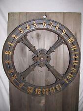 Antique Cast Iron Elevator Dial Victorian Era