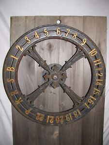 Antique Cast Iron Elevator Dial Victorian Era