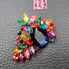 New Betsey Johnson Multi-Color Crystal Rhinestone Flower Charm Brooch Pin Gift