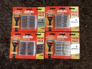 GILLETTE FUSION POWER 32 BLADES(4 X 8PKS) MADE IN GERMANY+ GIFT