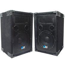 1000W Pair of 8 inch Passive PA Loud Speaker Band DJ Karaoke Church