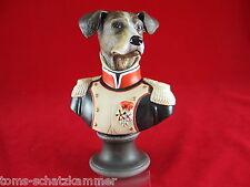 Goebel Aristo Dogs Porzellan Büste Maréchal d' Empire Thierry Poncelet Hund