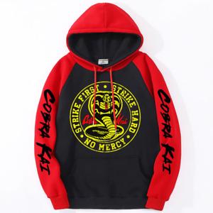 Cobra Kai Printing Casual Clothing Streetwear Winter Fleece Sweatshirt Pullover
