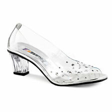 Pleaser Party Patternless Court Heels for Women