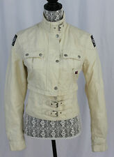 Belstaff International White Removable Crop Top Motorcycle Style Jacket 42
