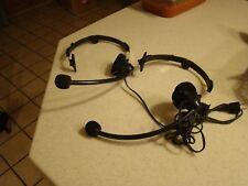 Pair Maxon PCA-1 Headset for PC-10 & PC-50 2-Way Radio Condenser Mic Unused