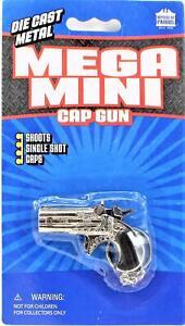 "Derringer Pistol Cap Gun Die Cast Key Chain Mega Mini 2.25"" Long Free Shipping"
