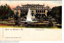 Gruss aus Frankfurt am Main AK um 1900 Palmengarten Litho Hessen 1506039