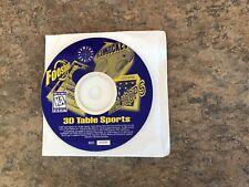 3D Table Sports (Foosball/SlamHockey/Power Hoops) 1997 PC Computer Game Software
