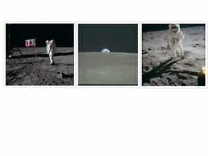 New * 3 x  NASA fantastic pictures: Moon landing - today is the 50th anniversary