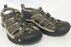 KEEN Outdoor 1008399 Men's Newport H2-M Raven / Aluminum Hiking Sandals Shoes