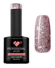 407 VB Line Grey Pink Silver Glitter - gel nail polish - super gel polish