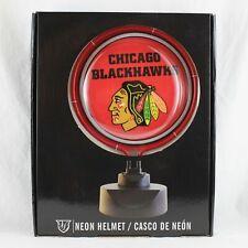 Chicago Blackhawks Neon Helmet Sign Display Nhl-Cbh-893 Brand New