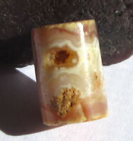 RARE GORGEOUS ANCIENT BANDED CARNELIAN AGATE EYE CYLINDER MALI BEAD 8mm x 11mm