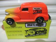 Matchbox 1996 HERSHEY TOY SHOW 1939 CHEVY Sedan Delivery Van New in Mint Box*
