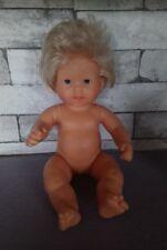 Adorable Poupée corps dur bébé de bain COROLLE blonde Virginie 36 cm 94E11 TBE