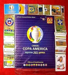 ORIGINAL Panini Copa America Colombia 2021 Stickers Sealed Album Complete Set