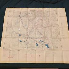 1951 Vintage Fabric (Rayon/Silk) Map of Baghdad & Basra