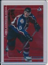 MILAN HEJDUK 2000-01 IN THE GAME SIGNATURE SERIES RED PARALLEL 127/200 COLORADO