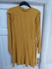 Ladies Mustard NEW LOOK Skater Style Dress Size 12