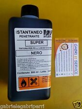 TINTURA Pelle Cuoio NERO 500 ml SUPER ISTANTANEO INFERNO Wilbra Cuir Leather