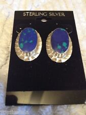 Sterling Silver Earrings Very Unique Azurite &