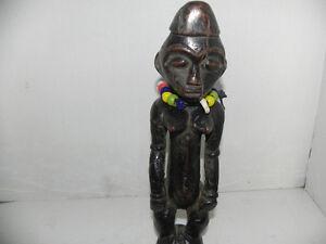 "Arts of Africa - Maternity Mangbetu Figure - DRC - Congo - 12"" Height x 3"" Wide"