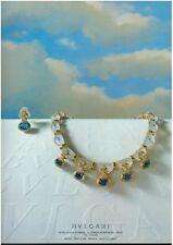 1983  BVLGARI Sapphire Necklace   JEWELRY Magazine  PRINT AD  Rare