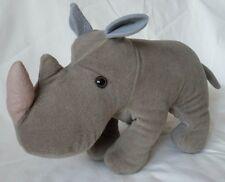 Steiff Nosy Rhino Trevira Velvet Plush Rhinoceros 18cm 7in ID Button 1975 -78