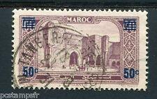 MAROC - 1930-31, timbre 126, Porte BAB-el-MANSOUR, surchargé, oblitéré