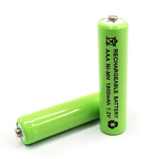 18pc AAA LR3 R03 1800mAh Ni-MH Rechargeable Battery Green 3A Cell Power 1.2V