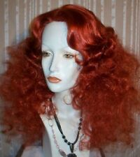 Drag Queen Wig Frizzy Shoulder Length Henna Red