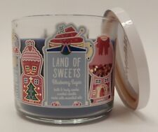 BATH & BODY WORKS LAND OF SWEETS BLUEBERRY SUGAR SCENTED 3 WICK CANDLE 14.5oz