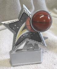 Basketball award trophy silver star hologram R7052