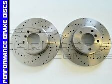 FOR BMW 5 SERIES F10 F11 520d 525d FRONT 330mm DRILLED PERFORMANCE BRAKE DISCS