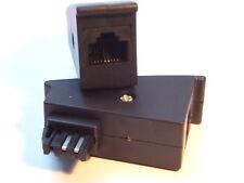 Telefon Adapter TAE-F Stecker auf RJ45 Buchse für DSL Router RJ45 8P2C, Weiß