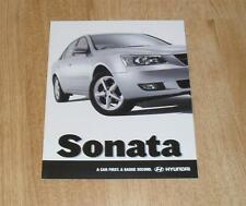 Hyundai Sonata 2.4 CDX Brochure 2005