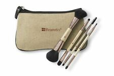 BH Cosmetics Boho Chic Dual Cosmetic Makeup Brush Set Face and Eyes with Bag