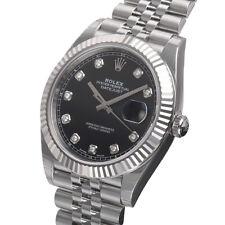 Rolex DATEJUST 41mm 126334 Mens Steel & Gold Jubilee Bracelet Black Diamond Dial