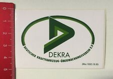 Aufkleber/Sticker: Dekra - Dt. Kraftfahrzeug Überwachungsverein E.V. (210316139)