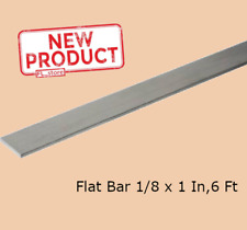 Aluminum Flat Bar Stock 1/8 Inch x 1 Inch x 6 Ft Unpolished Alloy Extruded NEW