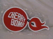Cherry Bomb Sign Original Exhaust Gas Station Service Garage USA
