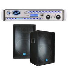 """Peavey IPR DSP 7500 3750 Watts Power Amplifier w/ (2) 12"""" DJ PA Speaker System"""
