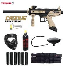 Tippmann Cronus Basic Tactical Titanium Paintball Gun Package - Black / Tan