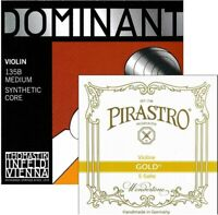 Thomastk Dominant 135B Violin Strings Set 4/4 Medium E Gold Label End Ball