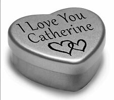 I Love You Catherine Mini Heart Tin Gift For I Heart Catherine With Chocolates