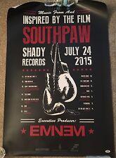 Eminem Signed 24x36 Southpaw Poster PSA/DNA #AB00876 Auto